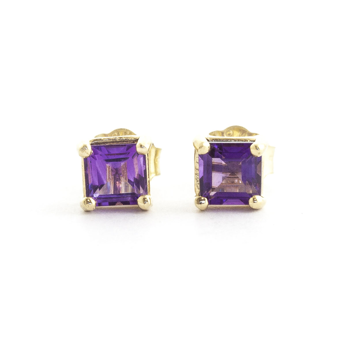 Image of Amethyst Alexandra Stud Earrings 0.65 ctw in 9ct Gold