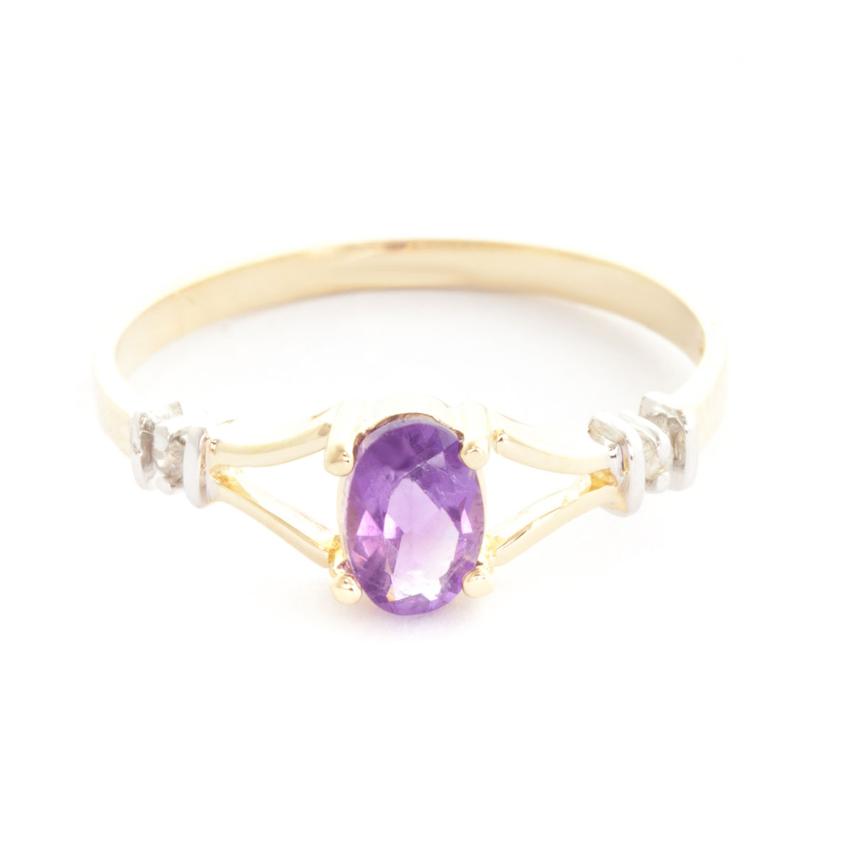 Amethyst & Diamond Aspire Ring in 18ct Gold