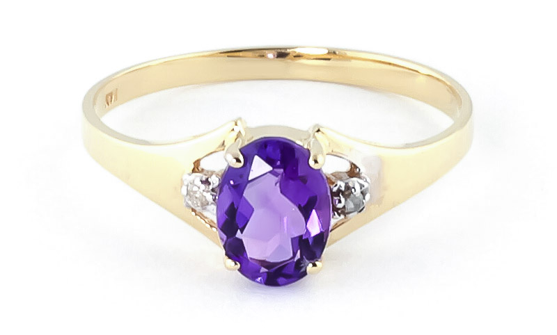 Amethyst & Diamond Desire Ring in 9ct Gold