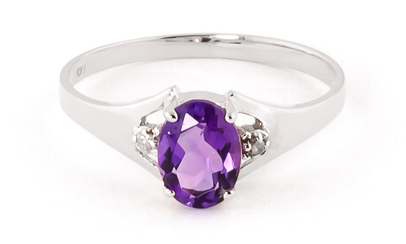 Amethyst & Diamond Desire Ring in 18ct White Gold