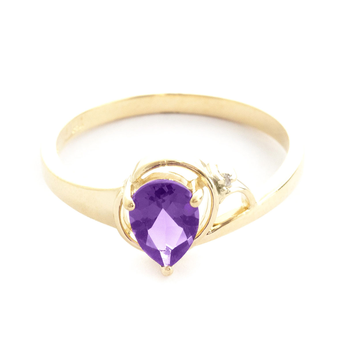 Amethyst & Diamond Glow Ring in 18ct Gold
