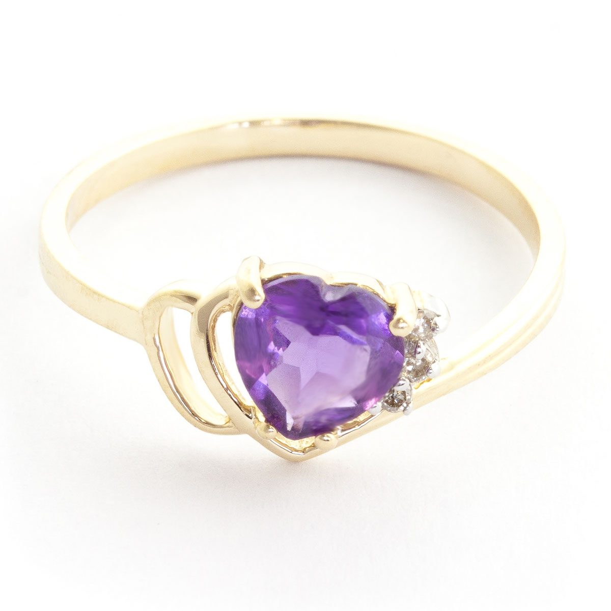 Amethyst & Diamond Passion Ring in 18ct Gold