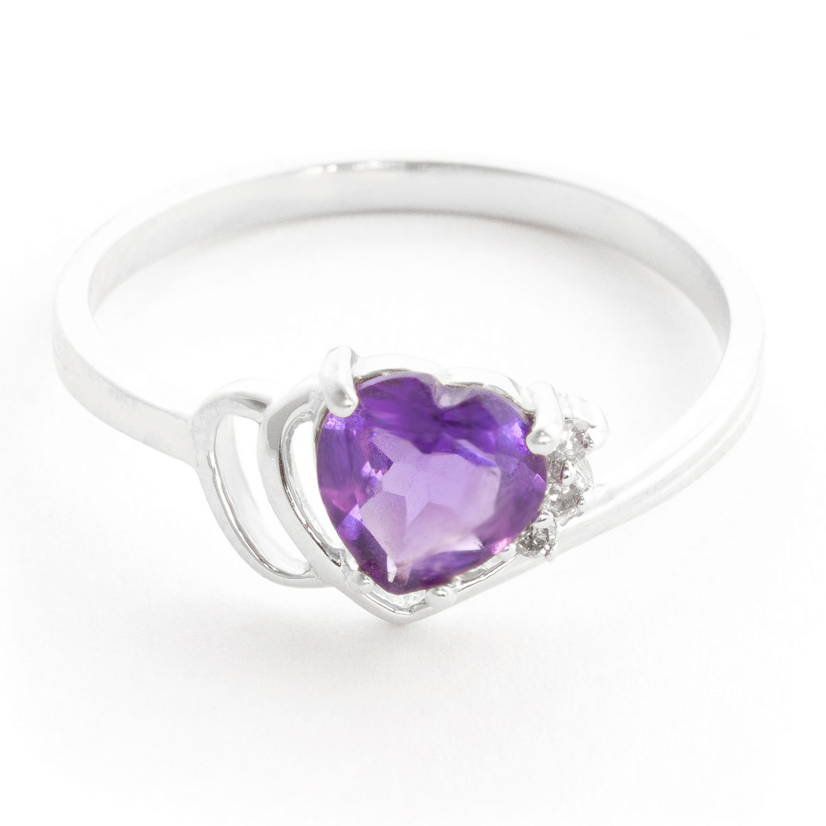 Amethyst & Diamond Passion Ring in 18ct White Gold