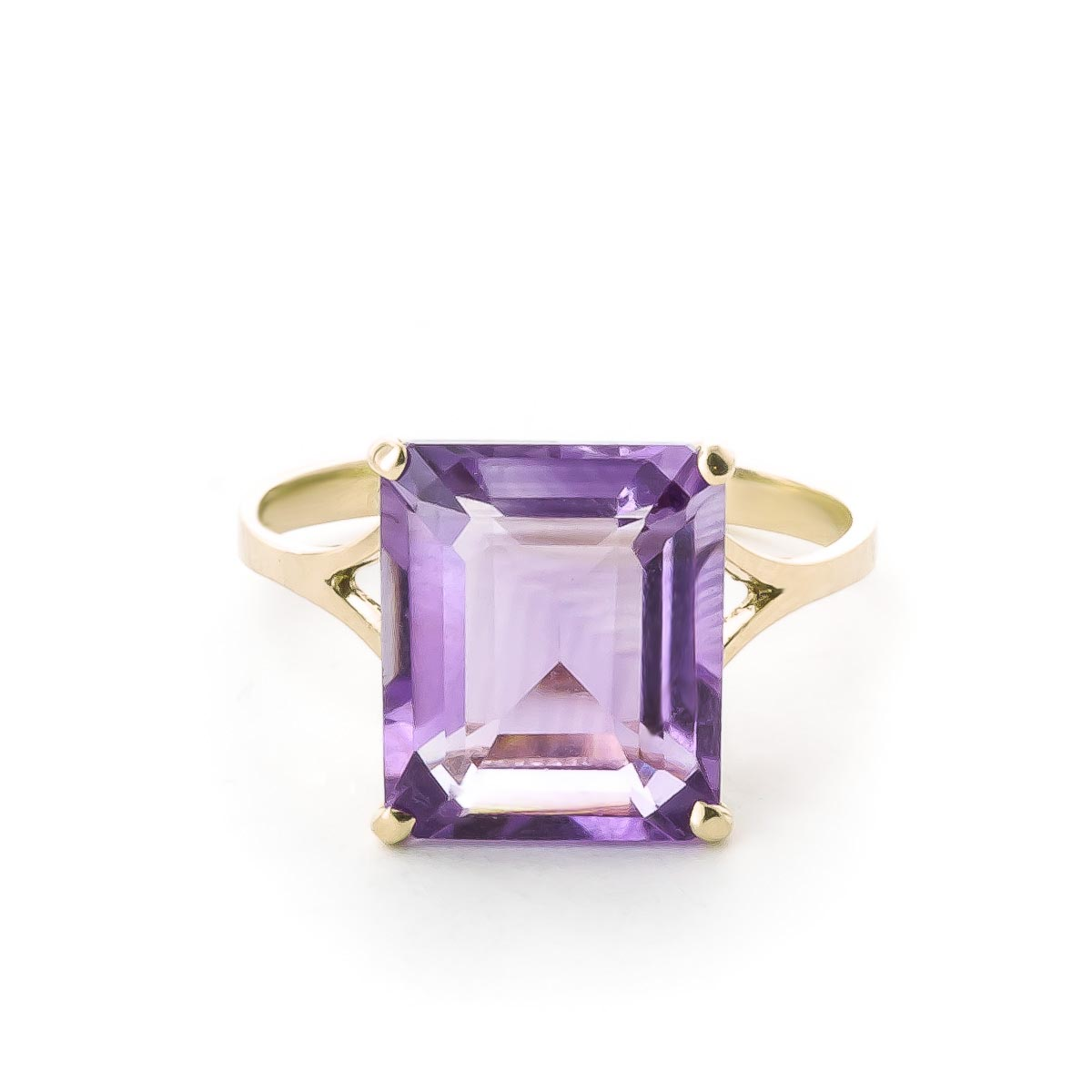 Image of Amethyst Auroral Ring 6.5 ct in 18ct Gold