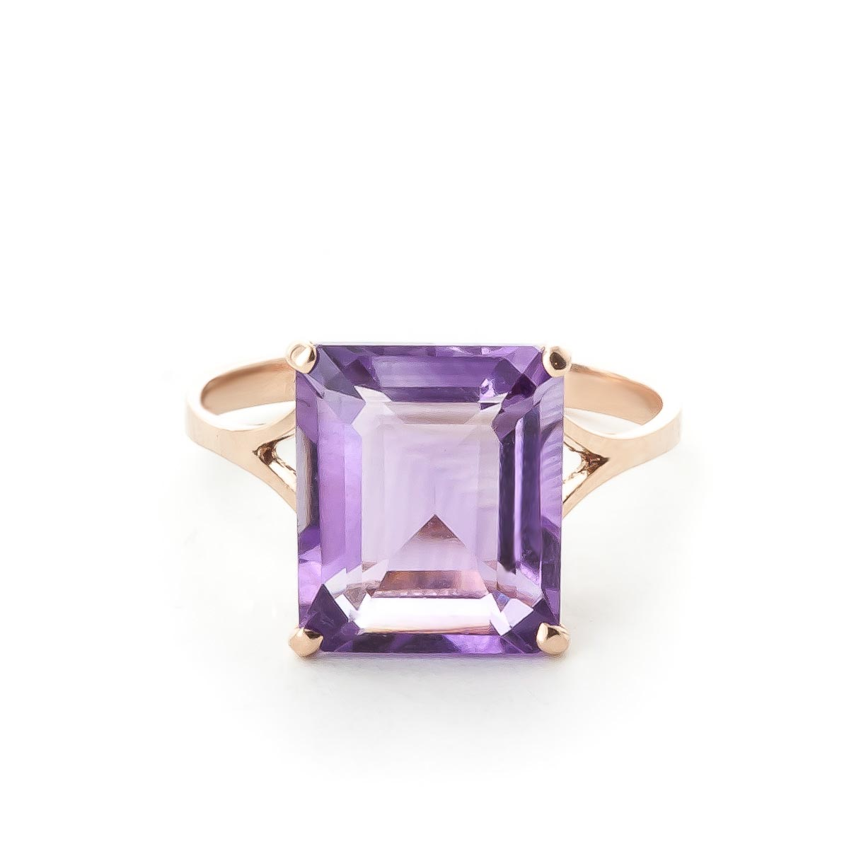 Image of Amethyst Auroral Ring 6.5 ct in 18ct Rose Gold