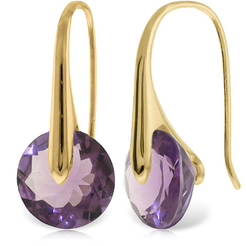 Amethyst Drop Earrings 11.5 ctw in 9ct Gold