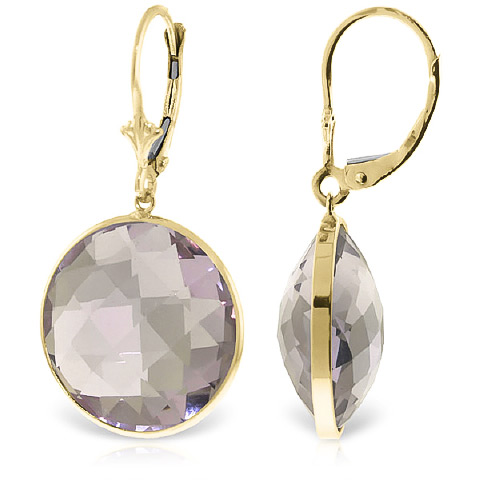 Amethyst Drop Earrings 36 ctw in 9ct Gold