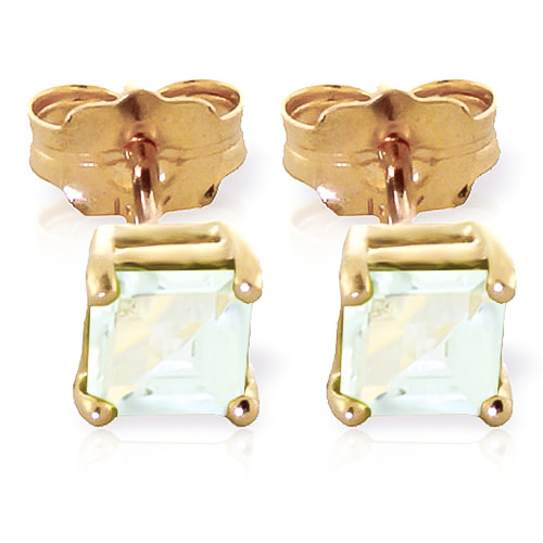 Aquamarine Alexandra Stud Earrings 0.8 ctw in 9ct Gold