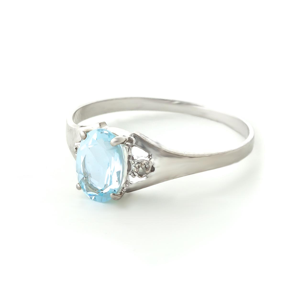 Aquamarine & Diamond Desire Ring in Sterling Silver
