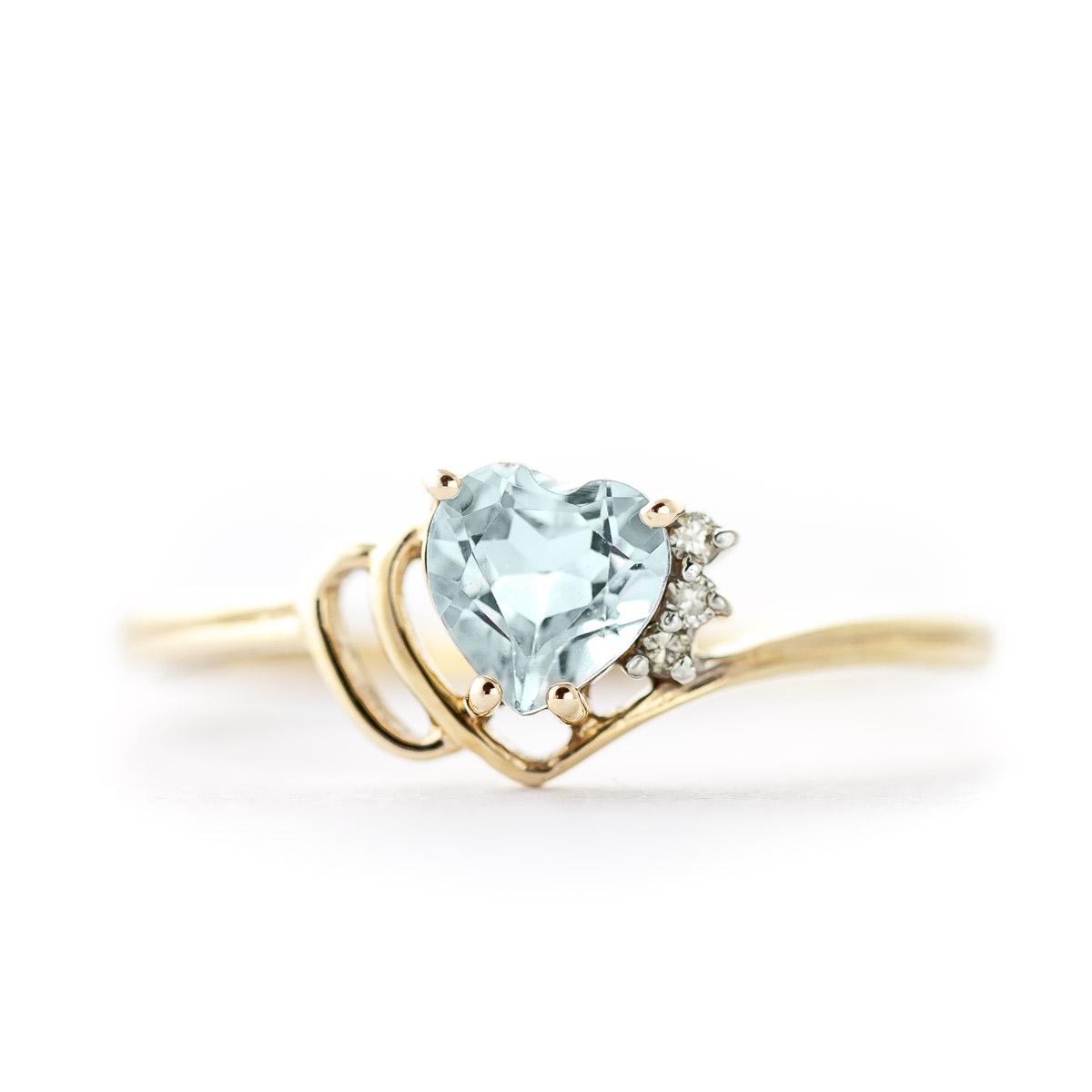Aquamarine & Diamond Passion Ring in 9ct Gold