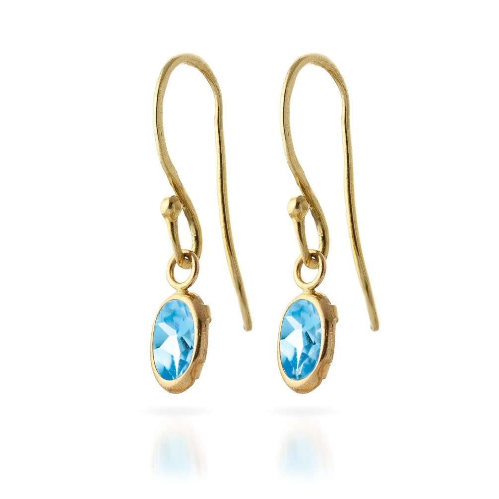 Blue Topaz Allure Drop Earrings 1 ctw in 9ct Gold