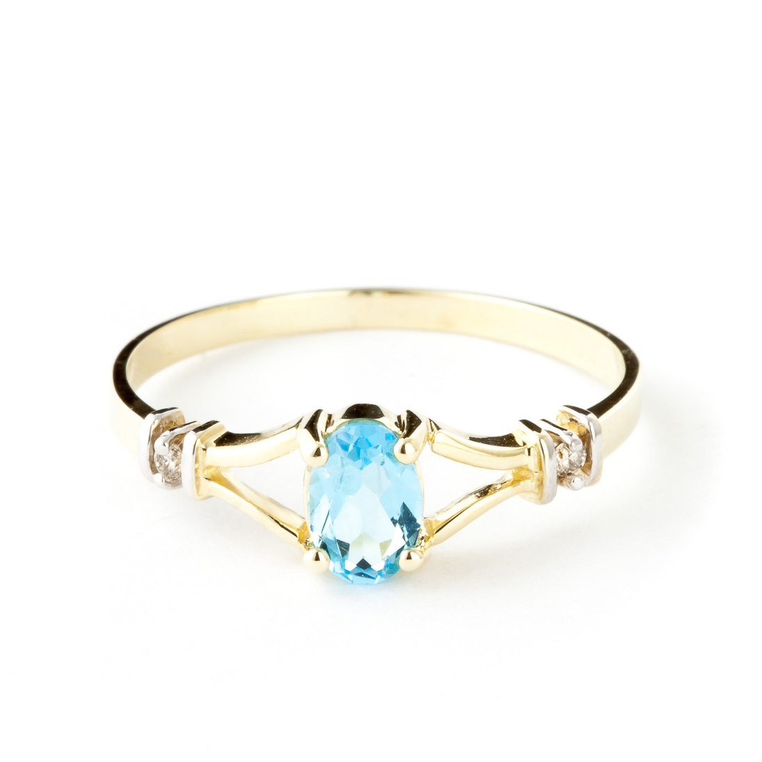 Blue Topaz & Diamond Aspire Ring in 9ct Gold