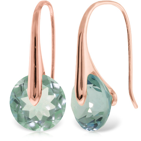 Blue Topaz Drop Earrings 16.5 ctw in 9ct Rose Gold
