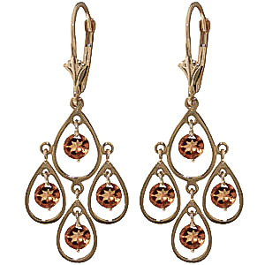 Citrine Quadruplo Milan Drop Earrings 2.4 ctw in 9ct Gold