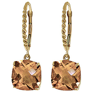 Citrine Rococo Twist Drop Earrings 7.2 ctw in 9ct Gold