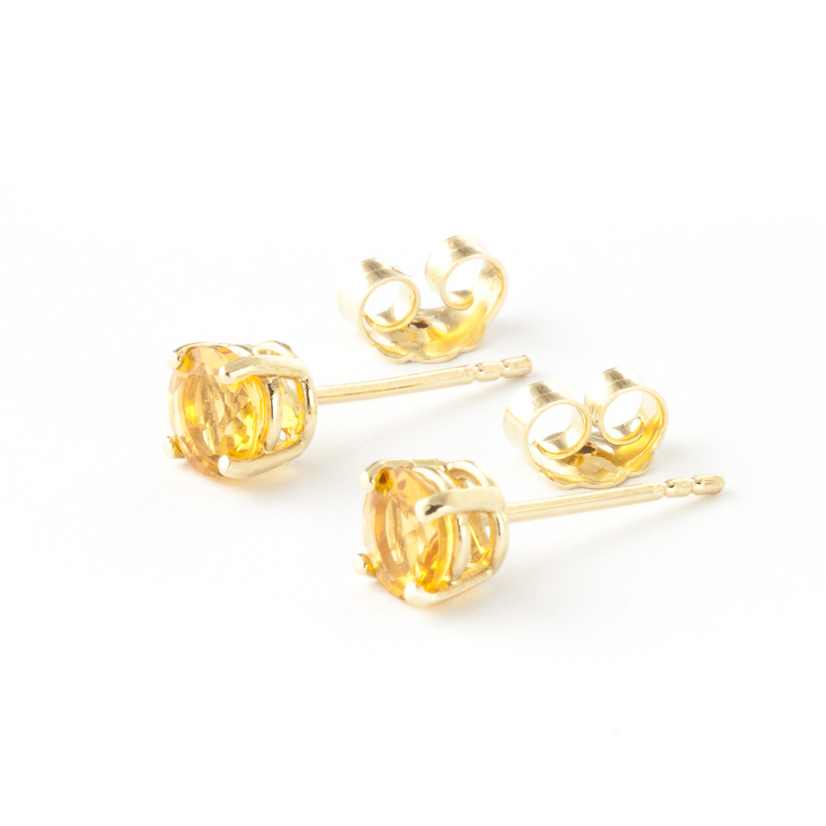 Citrine Stud Earrings 0.95 ctw in 9ct Gold