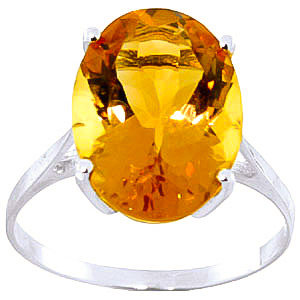 Citrine Valiant Ring 6 ct in 9ct White Gold