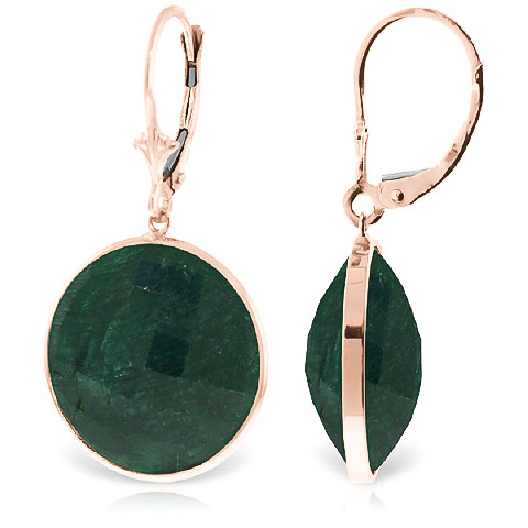 Corundum Drop Earrings 46 ctw in 9ct Rose Gold