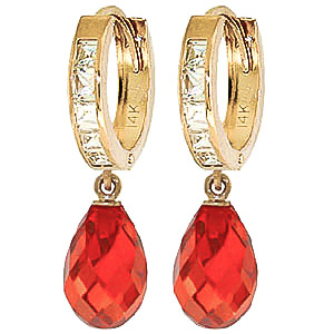 Cubic Zirconia Drop Earrings 11.1 ctw in 9ct Gold