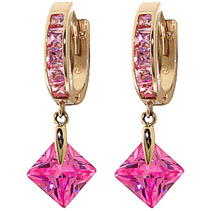 Cubic Zirconia Huggie Earrings 7.58 ctw in 9ct Gold