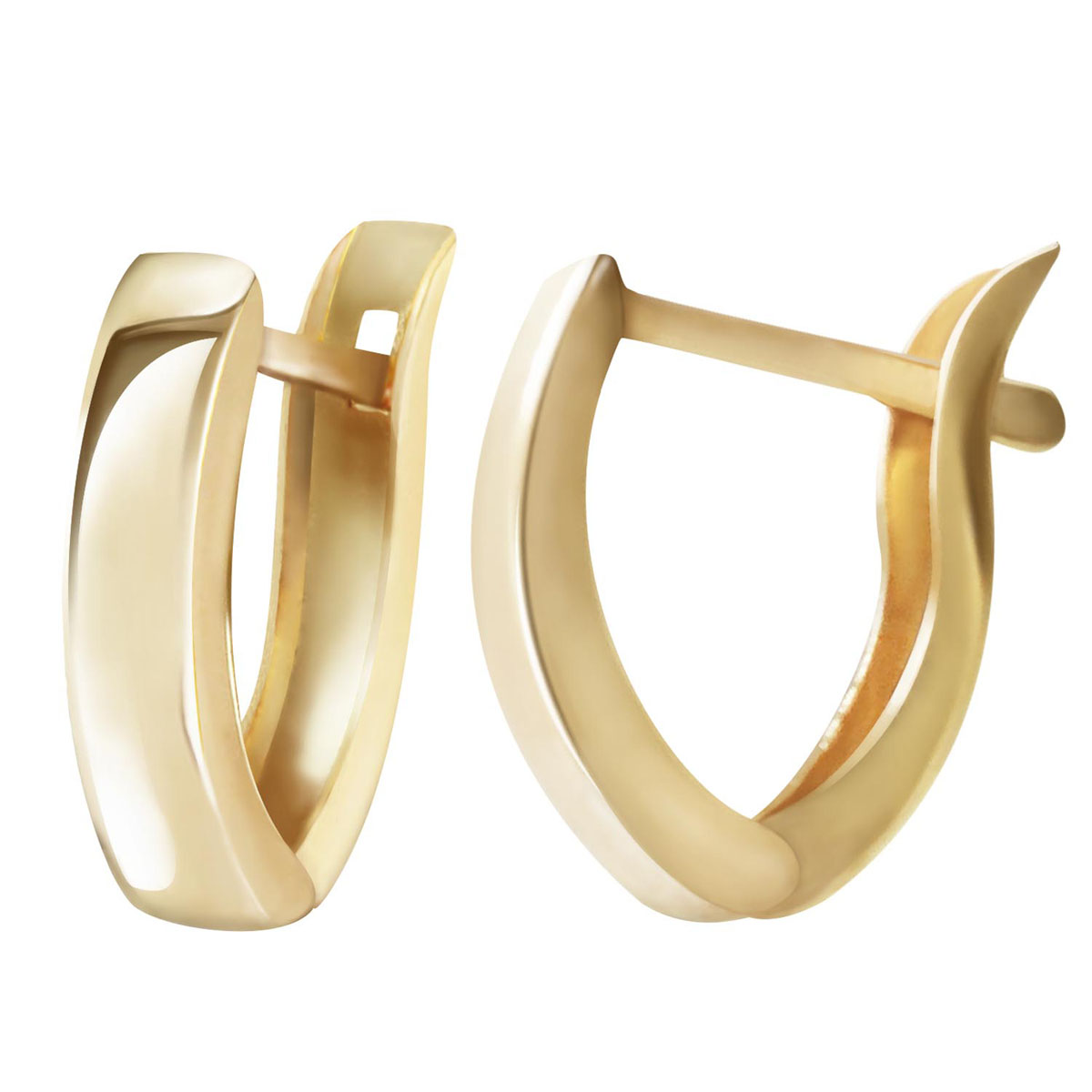 Dallas Huggie Earrings in 9ct Gold