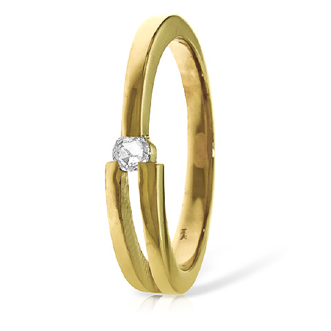 Diamond Channel Set Ring 0.1 ct in 18ct Gold