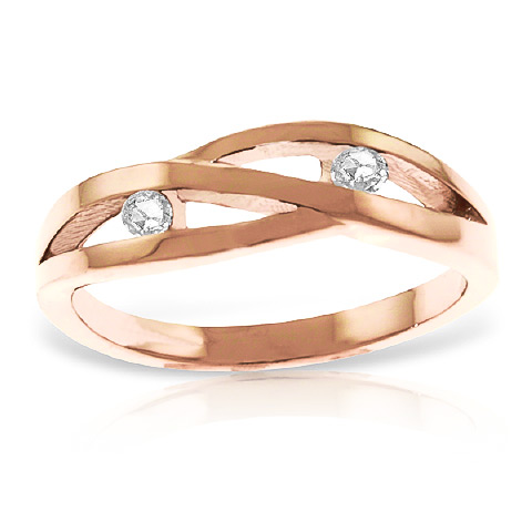 Diamond Channel Set Ring 0.1 ctw in 9ct Rose Gold