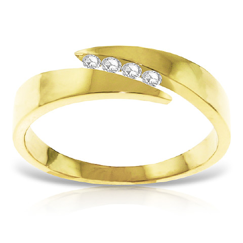 Diamond Channel Set Ring 0.12 ctw in 9ct Gold