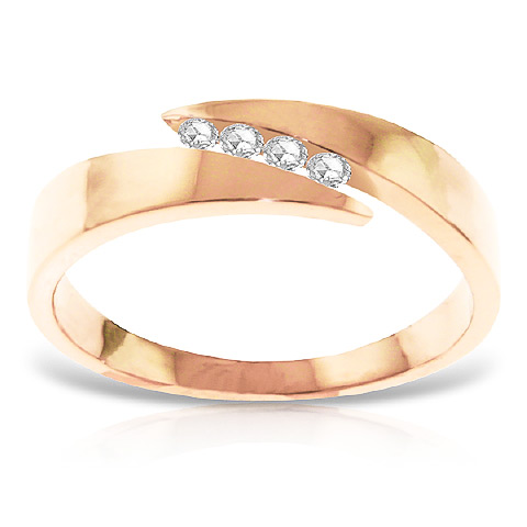 Diamond Channel Set Ring 0.12 ctw in 9ct Rose Gold