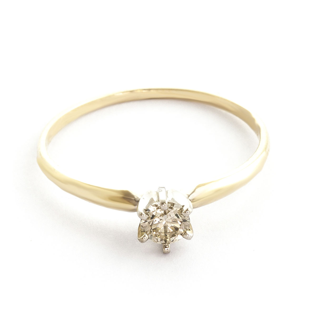 Diamond Crown Solitaire Ring 0.25 ct in 18ct Gold