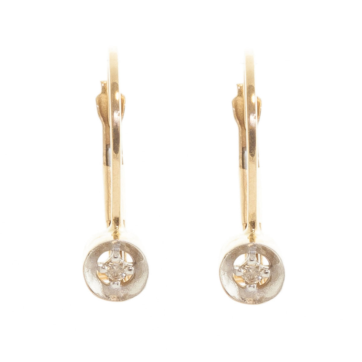 Diamond Drop Earrings 0.03 ctw in 9ct Gold