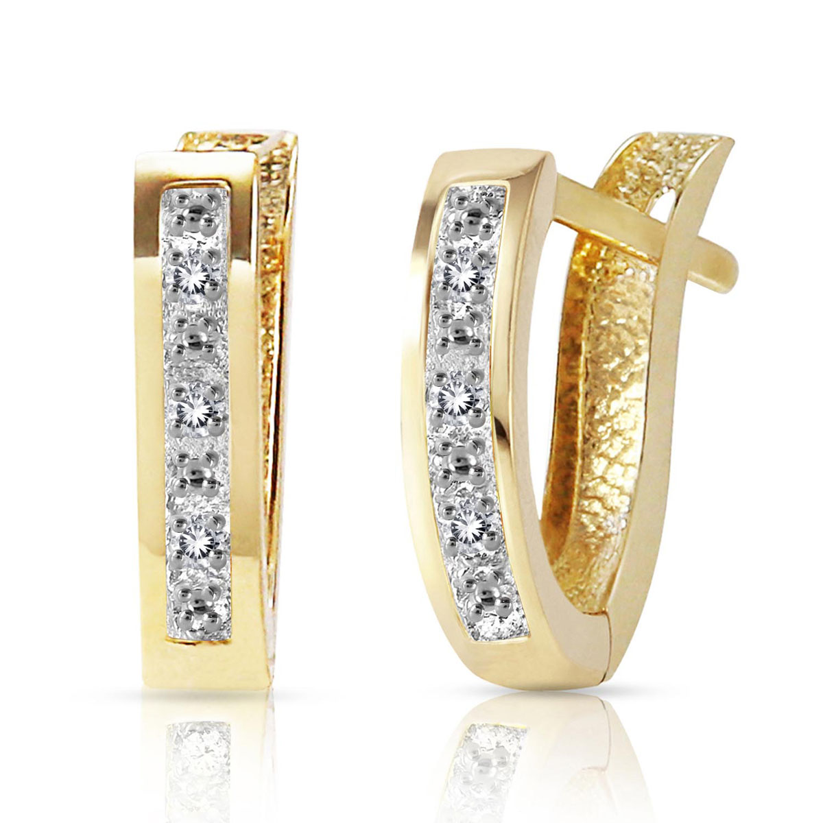 Diamond Huggie Earrings 0.04 ctw in 9ct Gold