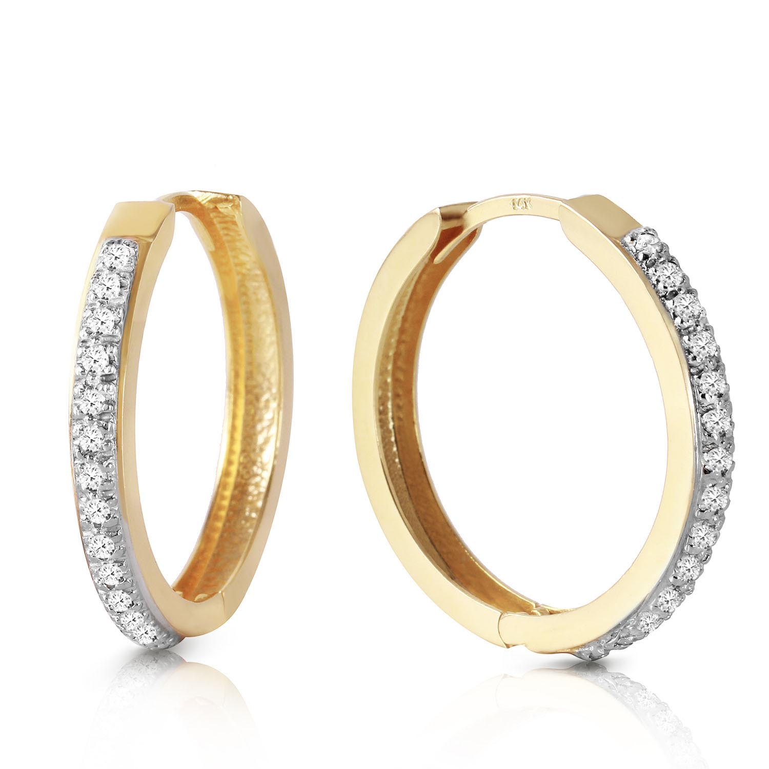 Diamond Huggie Earrings 0.28 ctw in 9ct Gold