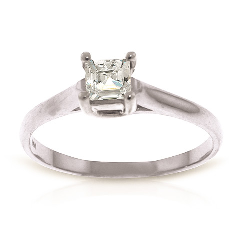 Diamond Solitaire Ring 0.5 ct in 18ct White Gold