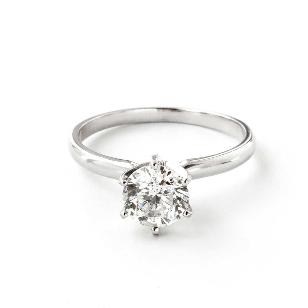 Diamond Solitaire Ring 1 ct in 18ct White Gold
