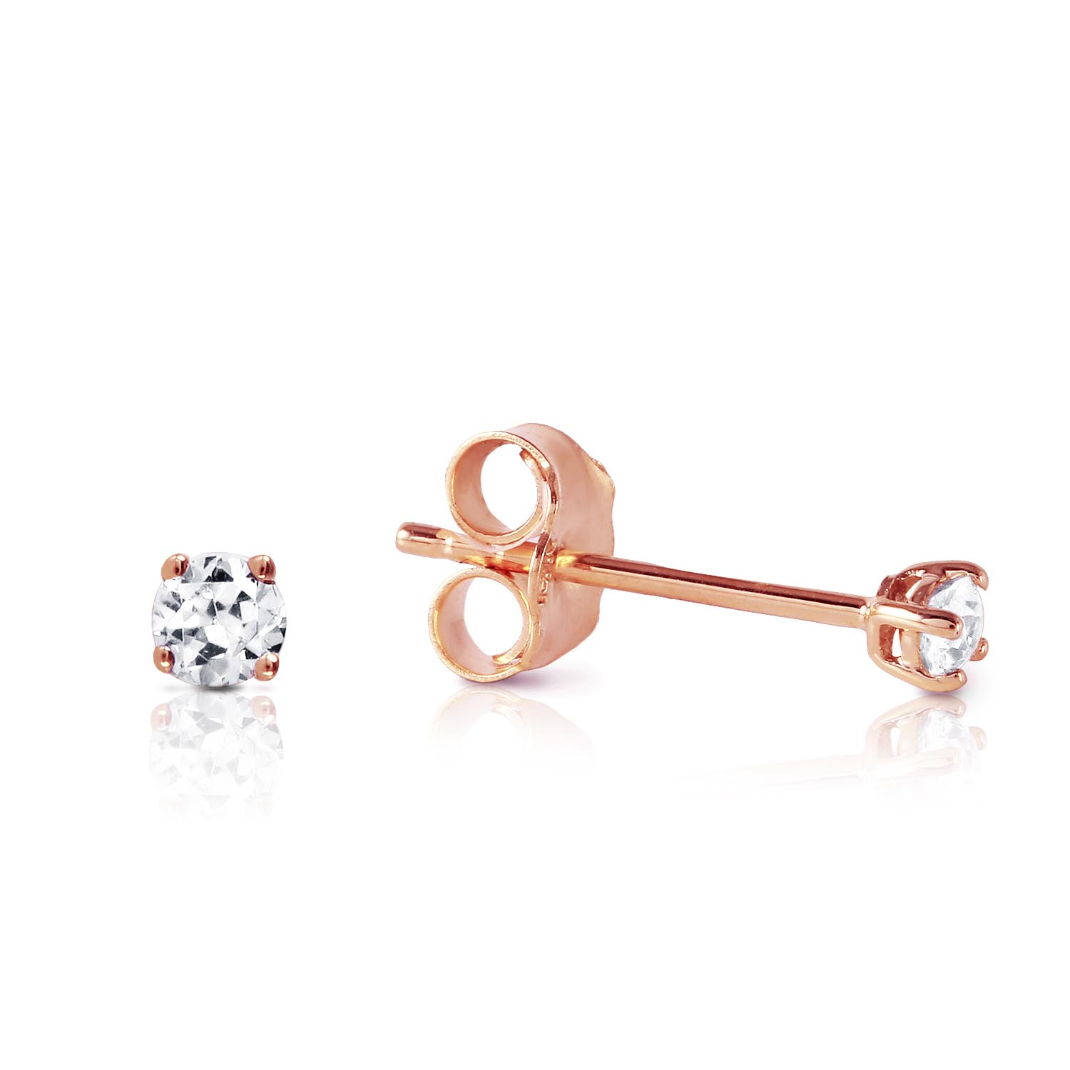Diamond Stud Earrings 0.1 ctw in 9ct Rose Gold