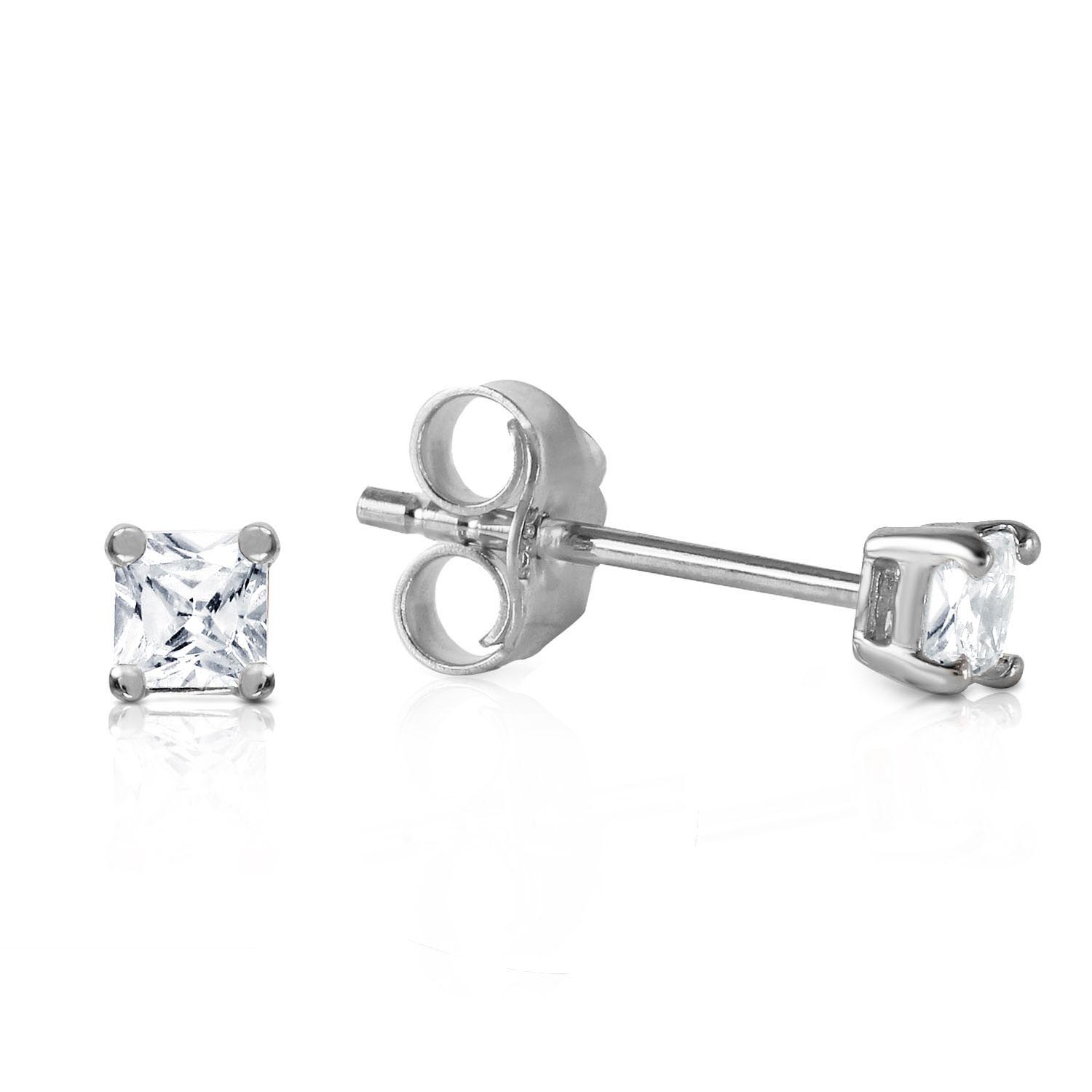 Diamond Stud Earrings 0.25 ctw in 9ct White Gold