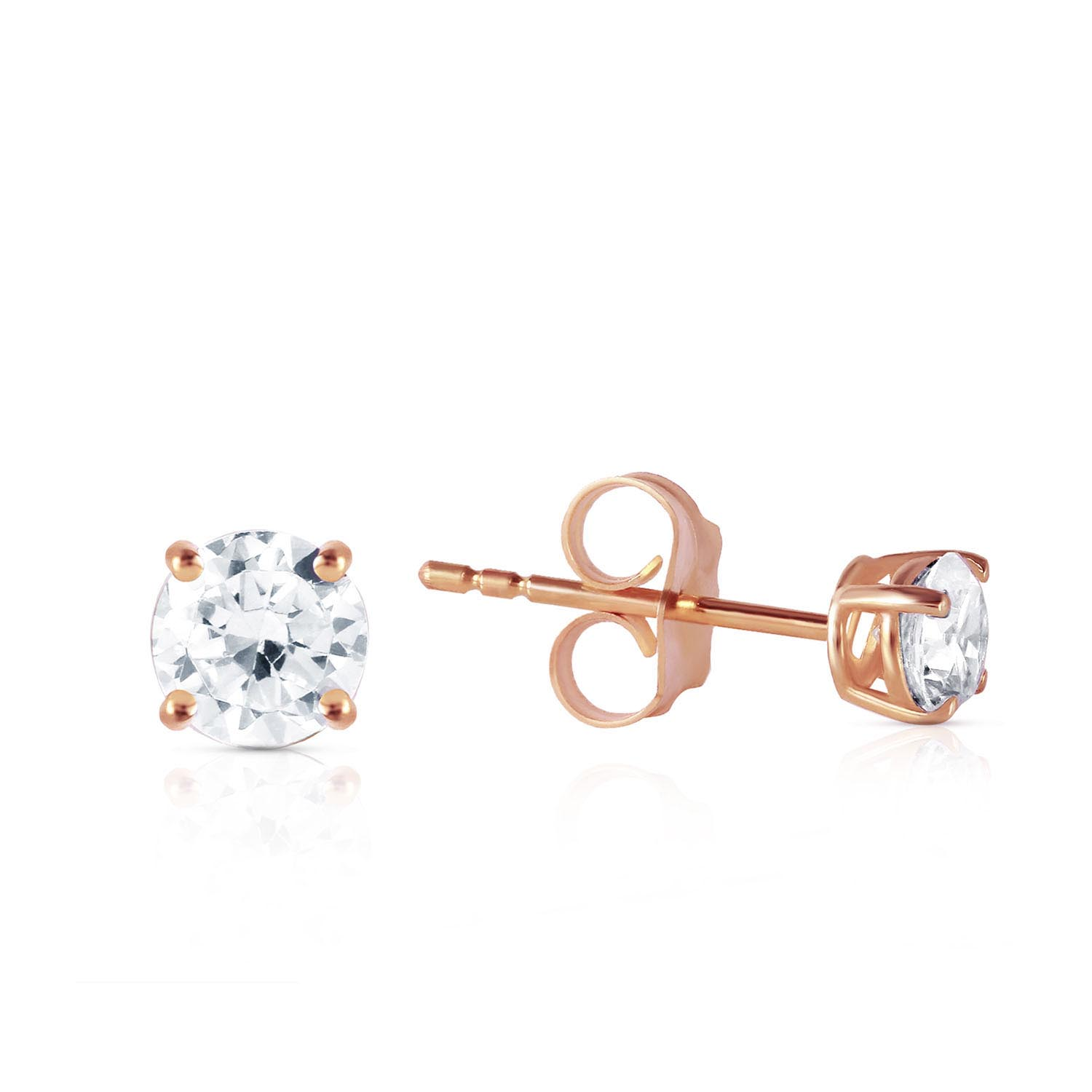 Diamond Stud Earrings 0.4 ctw in 9ct Rose Gold
