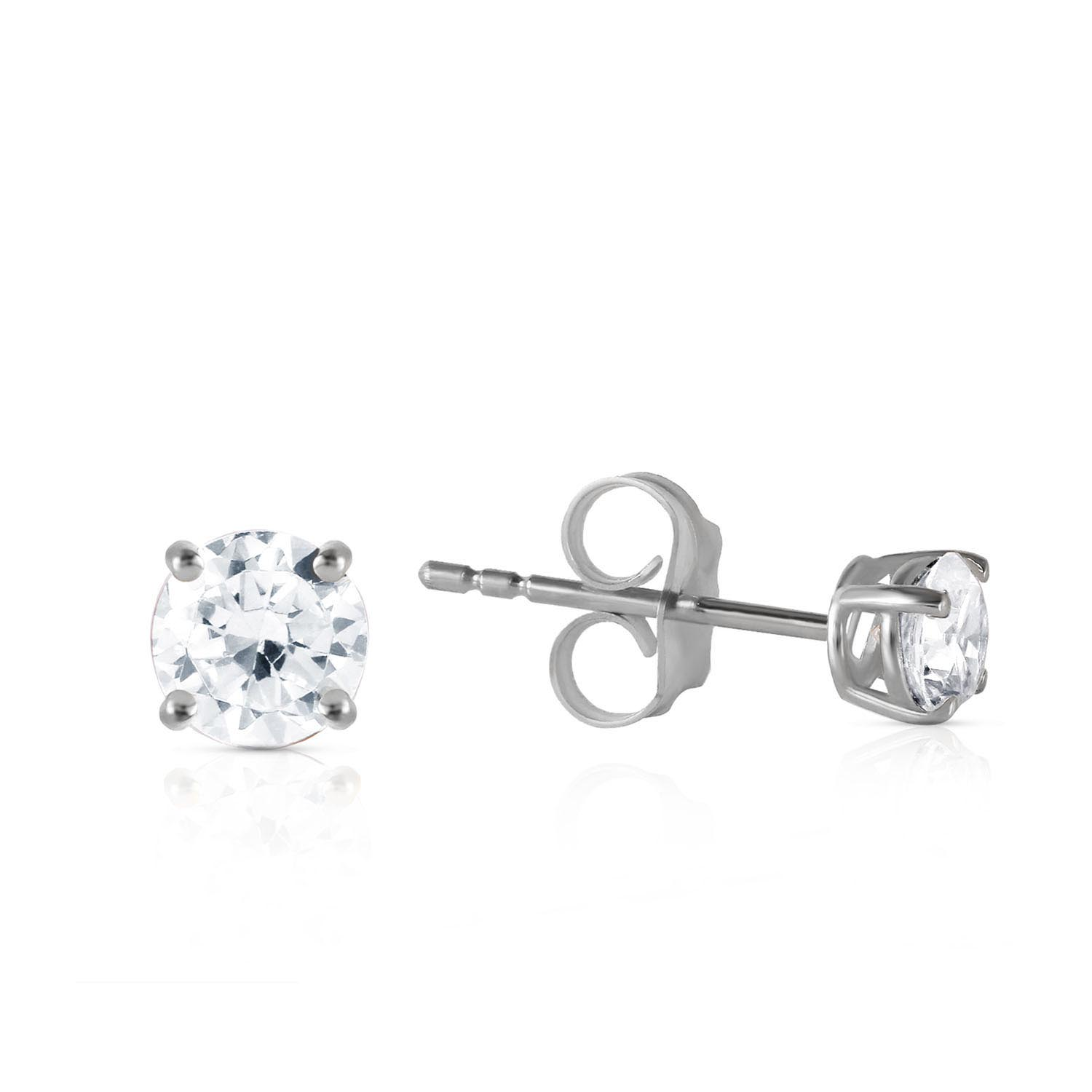 Diamond Stud Earrings 0.4 ctw in 9ct White Gold