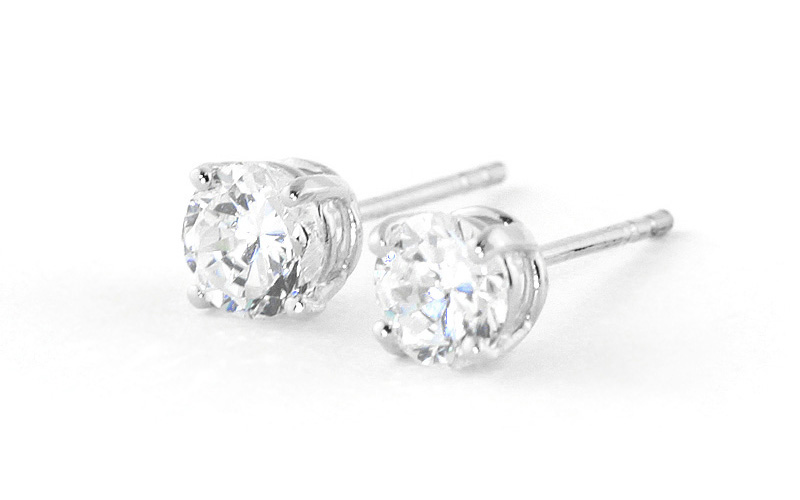 Diamond Stud Earrings 0.5 ctw in 9ct White Gold