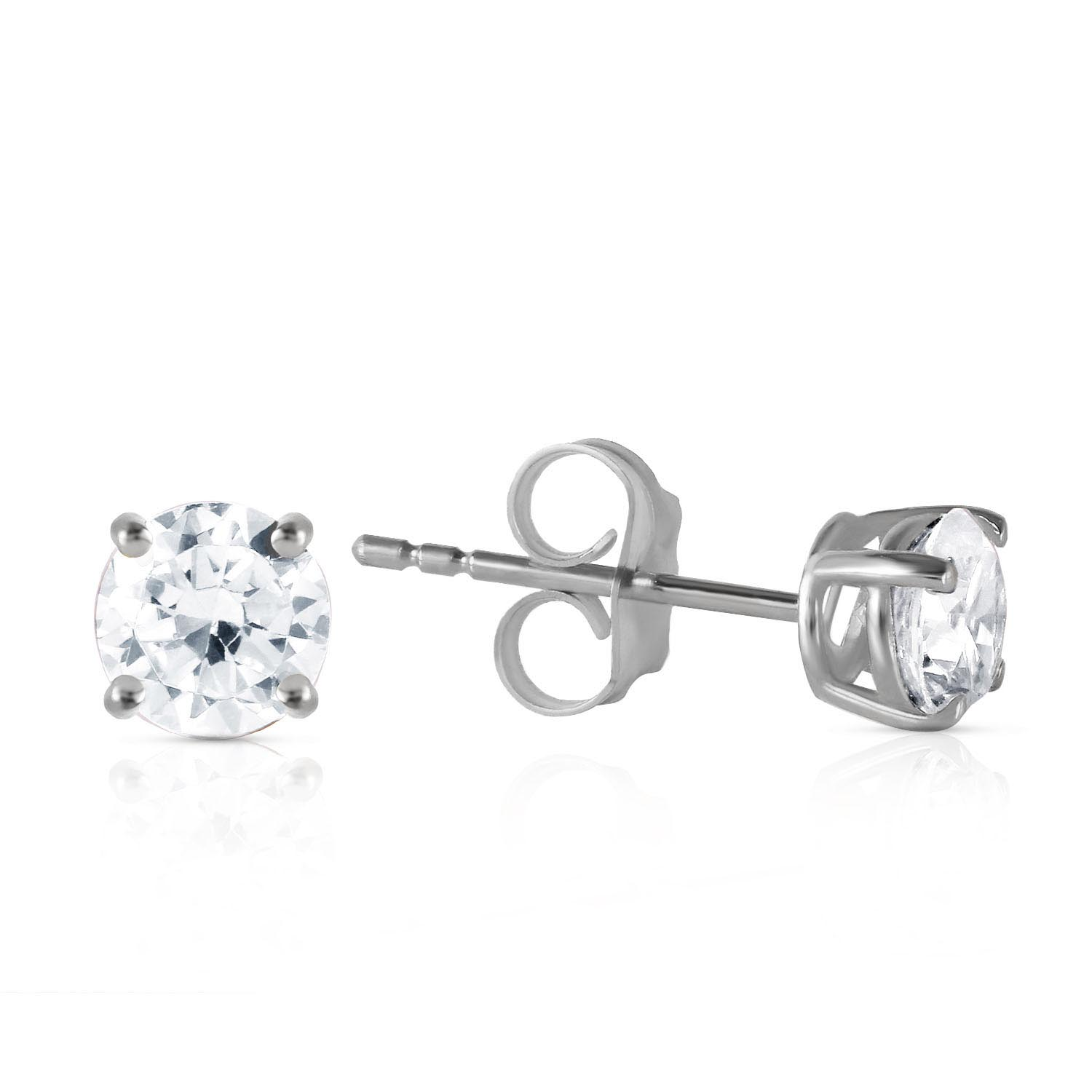 Diamond Stud Earrings 0.7 ctw in 9ct White Gold