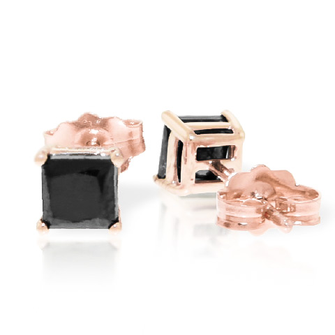 Diamond Stud Earrings 1 ctw in 9ct Rose Gold