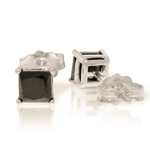 Diamond Stud Earrings 1 ctw in 9ct White Gold