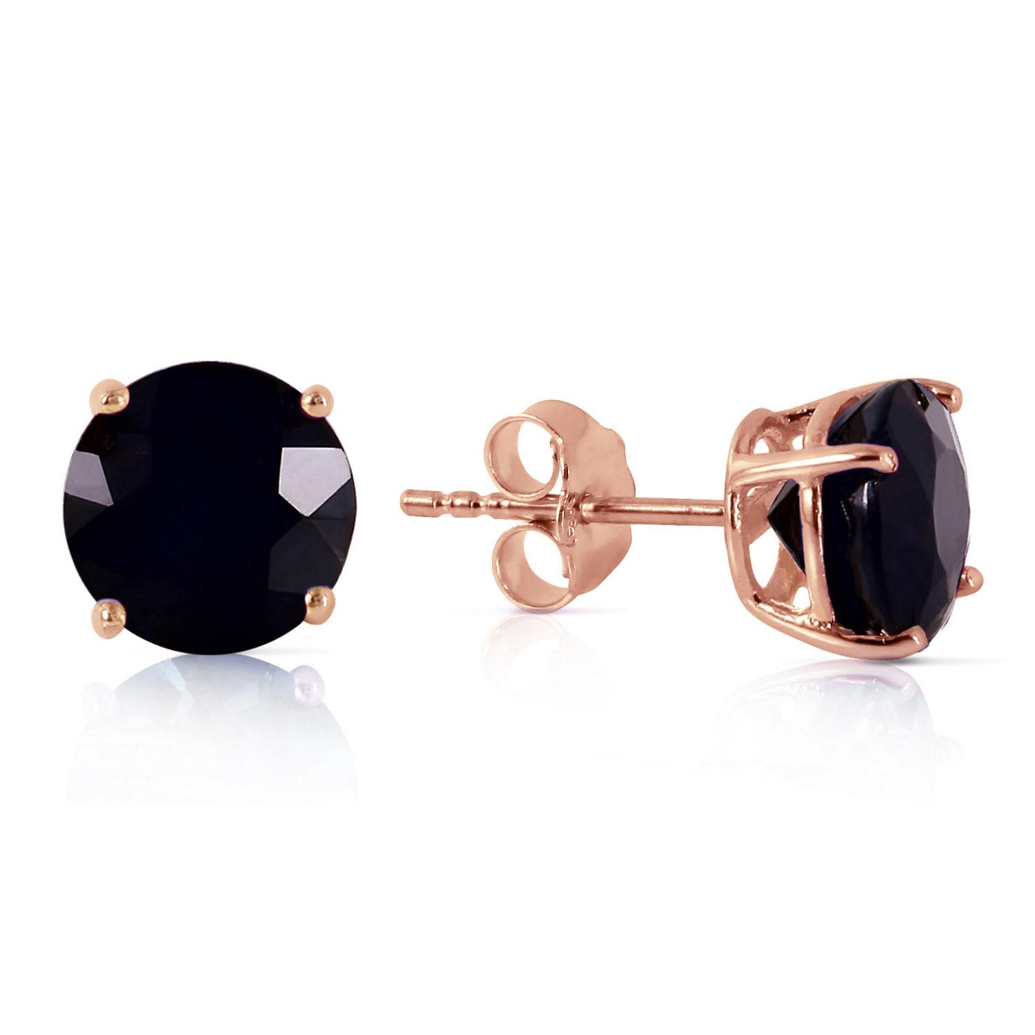 Diamond Stud Earrings 7 ctw in 9ct Rose Gold