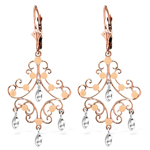 Drop Earrings in 9ct Rose Gold