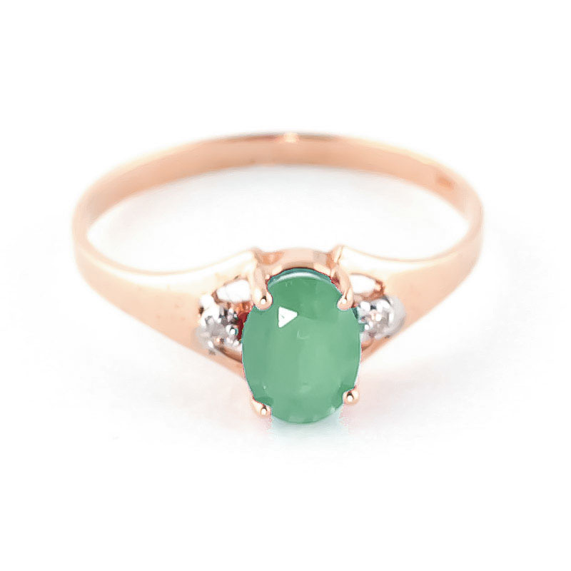 Emerald & Diamond Desire Ring in 18ct Rose Gold