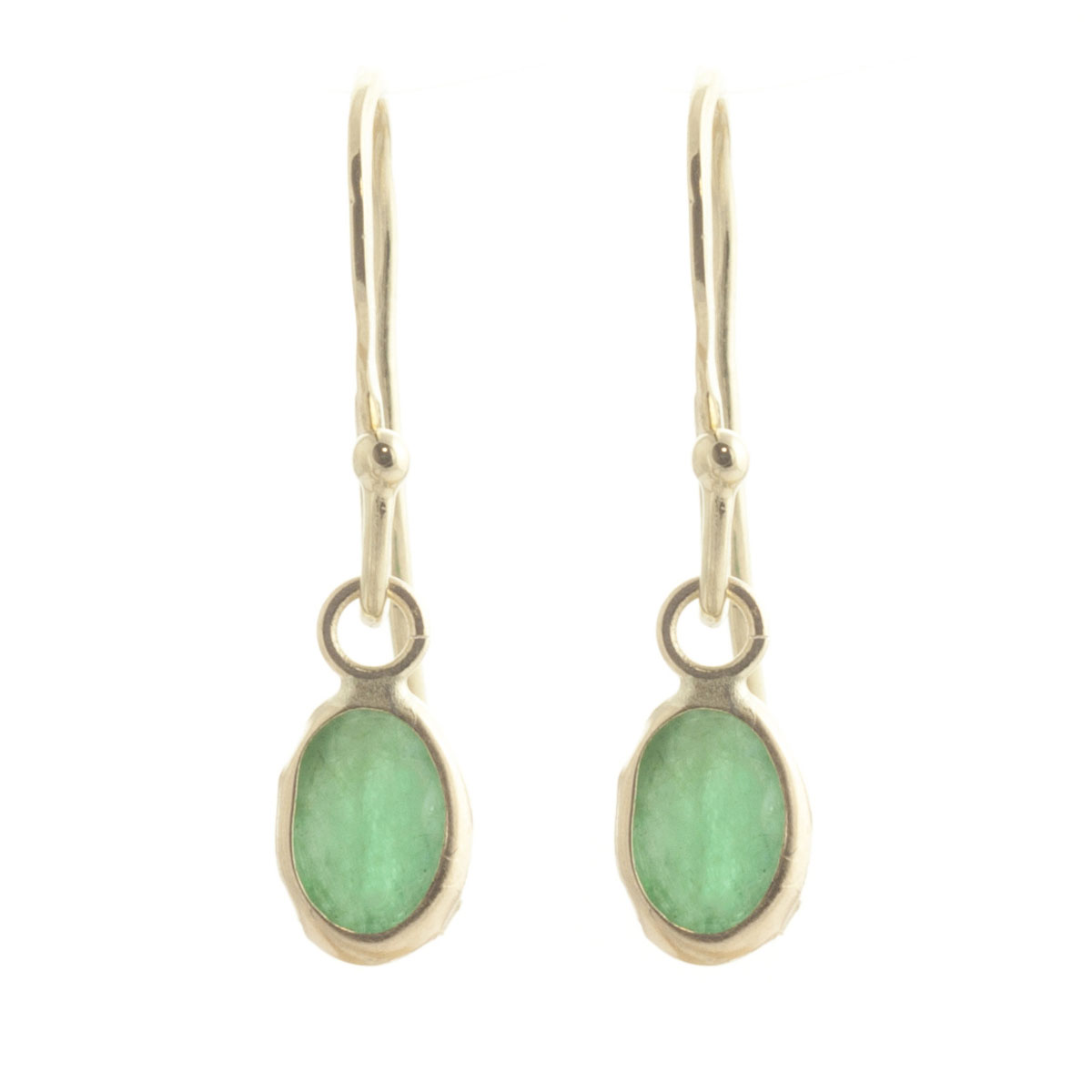 Emerald Drop Earrings 1 ctw in 9ct Gold