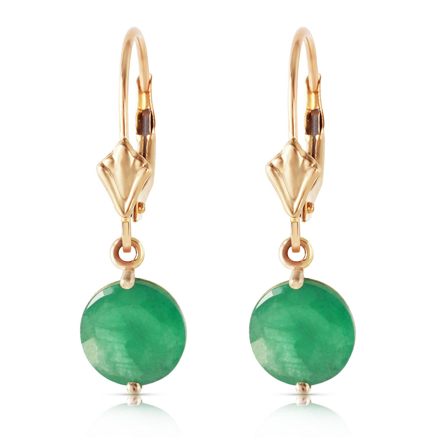 Emerald Drop Earrings 3.3 ctw in 9ct Gold