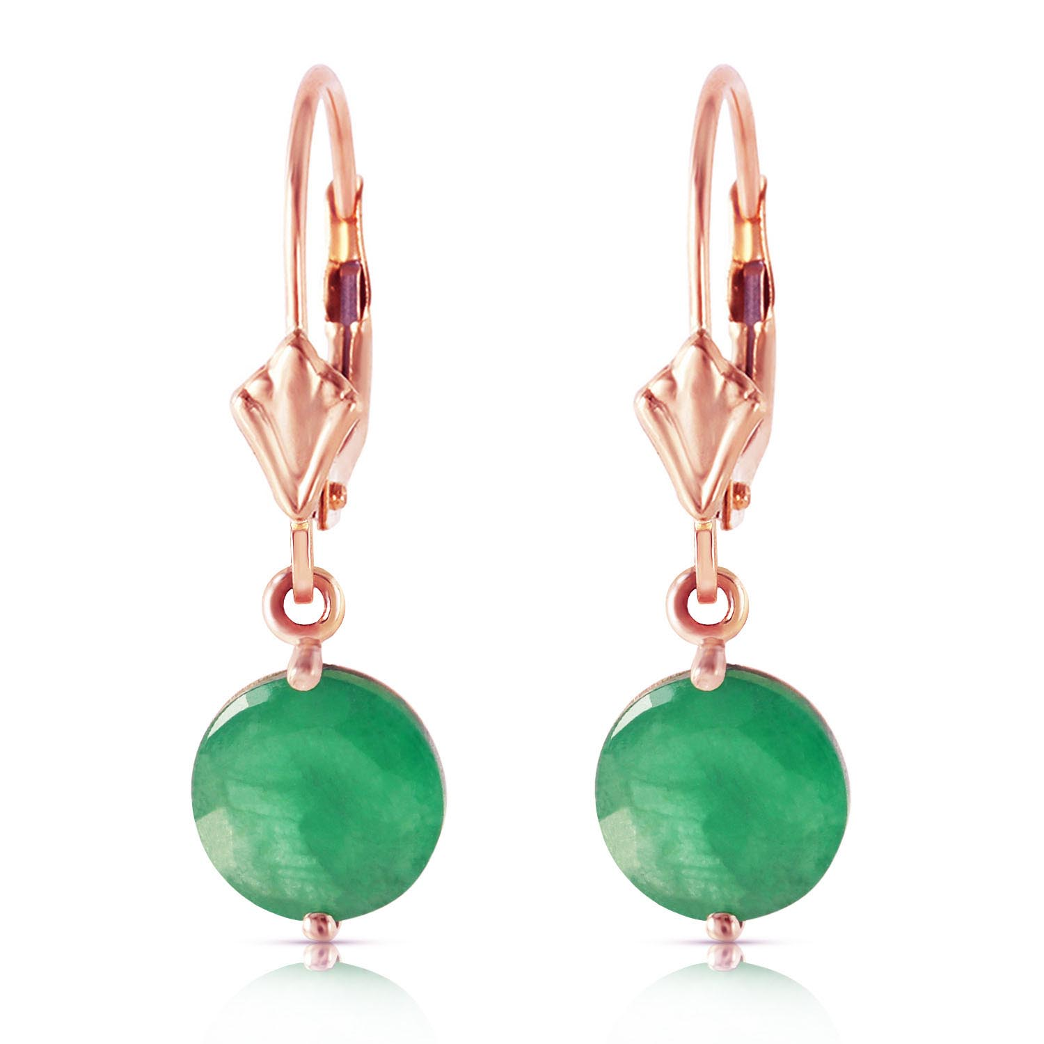 Emerald Drop Earrings 3.3 ctw in 9ct Rose Gold