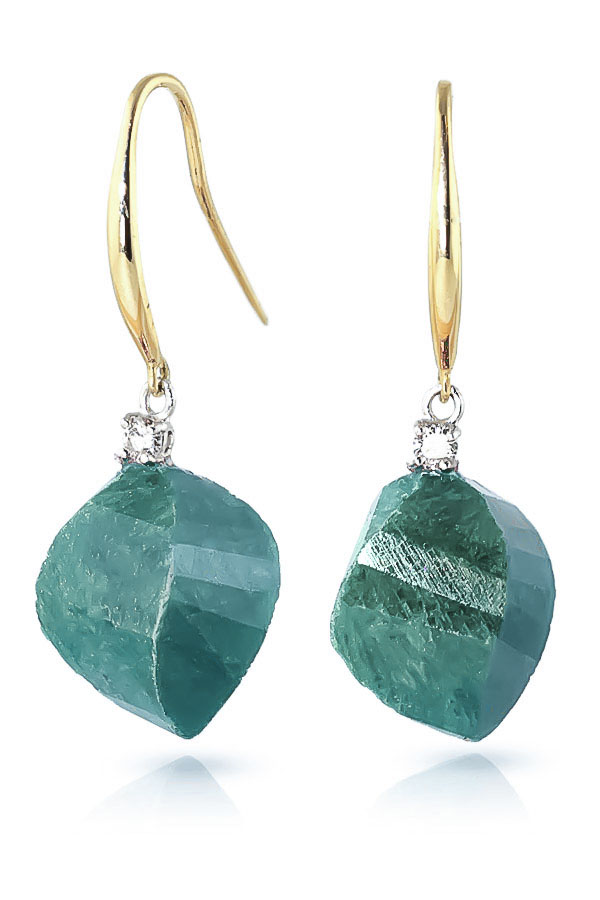 Emerald Drop Earrings 30.6 ctw in 9ct Gold